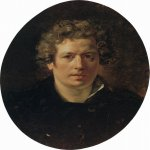 Brulloff Karl (1799 - 1852)  Self-Portrait  Oil on panel, 1833. Unfinished  Painted for the Uffizi Gallery  56.5x43 Г±Г¬  The Russian Museum, St. Petersburg, Russia