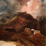 Brulloff Karl (1799 - 1852)  Type of Fort peak on the island of Madeira  Oil on canvas, 1849-1850  65x77 сm  The Tretyakov Gallery, Moscow, Russia