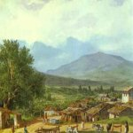 Brulloff Karl (1799 - 1852)  Village of San Rocco near the Town of Corfu  Watercolour on paper, 1835  The Pushkin Museum of Fine Arts, Moscow, Russia