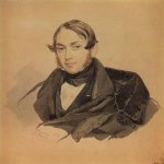 Brulloff Karl (1799 - 1852)  Portrait of S. A. Sobolevsky  Watercolor on paper, 1832  The Russian Museum, St. Petersburg, Russia