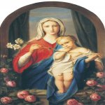 Fyodor Bruni (1801-1875)  The Virgin and Child in the roses  Oil on canvas, 1843  64,7 x40 cm  The Tretyakov Gallery in Moscow, Russia