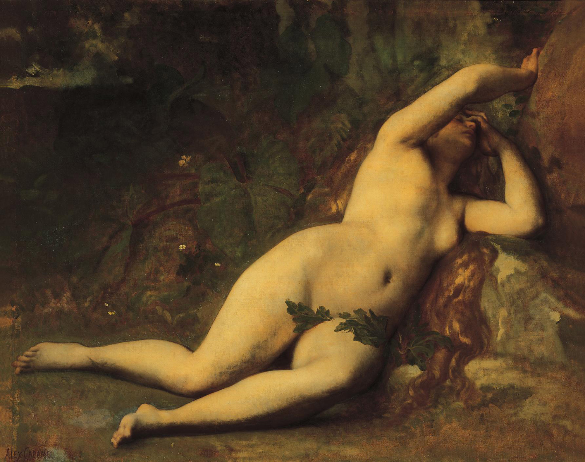 Alexandre Cabanel (1823-1889)  Eve After the Fall  Oil on canvas  29 1/2 x 37 3/4 inches (74.93 x 95.89 cm)  Private collection