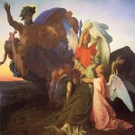 Alexandre Cabanel (1823-1889)  The Death of Moses  Oil on canvas, 1851  112 x 120 inches (284.5 x 304.8 cm)  Dahesh Museum, New York City, New York, USA