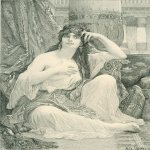 Alexandre Cabanel (1823-1889)  Engaving after Cabanel's 'The Sulamite'  Engraving  Public collection