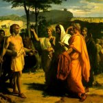 Alexandre Cabanel (1823-1889)  Cincinnatus Receiving Deputies of the Senate  Oil on canvas  Private collection