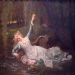 Alexandre Cabanel (1823-1889)  Ophelia  Oil on canvas, 1883  30 1/4 x 46 1/4 inches (77 x 117.5 cm)  Private collection