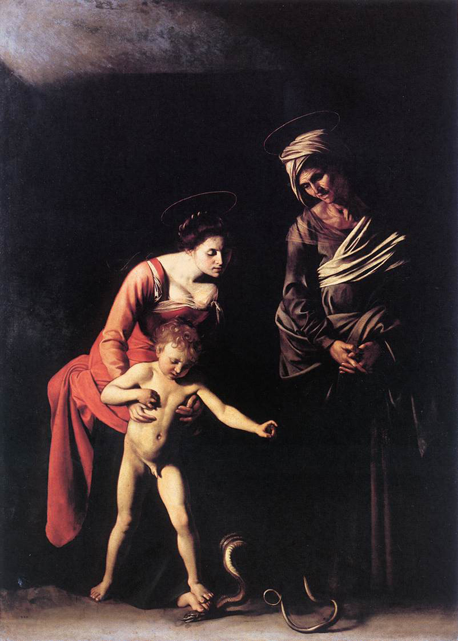 Caravaggio 1571 – 1610 madonna and child with st anne madonna