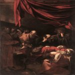 Michelangelo Merisi da Caravaggio, (1571 � 1610)  Death of the Virgin  Oil on canvas, 1604-1606  369 cm × 245 cm (145 in × 96 in)  Louvre, Paris, France