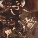 Michelangelo Merisi da Caravaggio, (1571  1610)  The Seven Works of Mercy  Oil on canvas, 1607  390 cm &#215; 260 cm (150 in &#215; 100 in)  Pio Monte della Misericordia, Naples, Italy