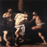 Michelangelo Merisi da Caravaggio, (1571  1610)  The Flagellation of Christ  Oil on canvas, 1607  286 cm &#215; 213 cm (113 in &#215; 84 in)  Museo di Capodimonte, Naples, Italy