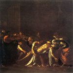 Michelangelo Merisi da Caravaggio, (1571 – 1610)  The Raising of Lazarus  Oil on canvas, c. 1609  380 cm × 275 cm (150 in × 110 in)  Museo Regionale, Messina, Italy