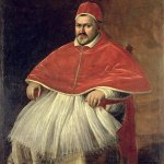 Michelangelo Merisi da Caravaggio, (1571 � 1610)  Portrait of Pope Paul V  Oil on canvas, c. 1605-1606  203 cm × 119 cm (80 in × 47 in)  Galleria Borghese, Rome, Italy