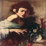 Michelangelo Merisi da Caravaggio, (1571  1610)  Boy Bitten by a Lizard  Oil on canvas, 1594-1596  65 cm &#215; 52 cm (26 in &#215; 20 in)  Fondazione Roberto Longhi, Florence, Italy