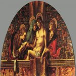 Carlo Crivelli (c. 1435 � c. 1495)  Pietà  Oil on wood  Pinacoteca, Vatican
