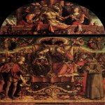 Carlo Crivelli (c. 1435 – c. 1495)  Coronation of the Virgin  Tempera on panel, 1493  225 x 255 cm  Pinacoteca di Brera, Milan,  Italy