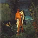 Paul Cézanne (1839–1906)   The Abduction  Oil on canvas, 1867   89.5 x 115.5 cm (35 1/4 x 45 1/2