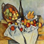 Paul Cézanne (1839–1906)   The Basket of Apples  Oil on canvas, 	1890s  65 cm × 80 cm (26 in × 31 in)  Art Institute of Chicago, Chicago, United States
