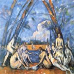 Paul Cézanne (1839–1906)   The Bathers (Les Grandes Baigneuses)   Oil on canvas, 	1898-1905  210.5 cm × 250.8 cm (82 7/8 in × 98 3/4 in)  Philadelphia Museum of Art, Philadelphia, United States