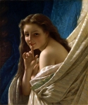 Pierre-Auguste Cot (Pierre Auguste Cot) (1837-1883) Portrait of a Young Woman Oil on canvas, 1869 54.9275 x 65.405 cm (21.62\&quot; x 25&amp;#190;\&quot;) Private collection