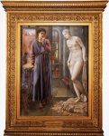 Edward Burne-Jones (Edward Burne Jones) (1833-1898)  Pygmalion and the Image: II - The Hand Refrains  Oil on canvas, 1875-1878  76.3 x 99 cm (30.04