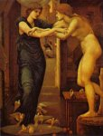 Edward Burne-Jones (Edward Burne Jones) (1833-1898)  Pygmalion IV , The Godhead Fires.,  (IV of IV), First Series  Oil on canvas, 1868-70  Joseph Setton Collection (private), Paris - now owned by Lord Lloyd Weber