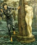 Edward Burne-Jones (Edward Burne Jones) (1833-1898)  The Rock of Doom  Bodycolour, 1884-1885  129 x 154 cm (4' 2.79