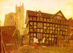 George Price Boyce (1826-1897)  Church And Ancient Uninhabited House At Ludlow  Watercolour, 1871-1872  52 x 39 cm (20.47