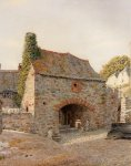 George Price Boyce (1826-1897)  Old Buildings At Kingswear, South Devon  Watercolour, 1874  42 x 52 cm (16.54