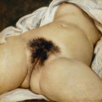 Jean Désiré Gustave Courbet (1819�1877)  L�Origine du monde (The Origin of the World)  Oil on canvas, 1866  46 cm × 55 cm (18 in × 22 in)  Musée d'Orsay, Paris, France