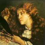 Jean Désiré Gustave Courbet (1819�1877)  La belle Irlandaise (Portrait of Jo)  Oil on canvas, 1866  25.59 inch wide x 21.26 inch high  Nationalmuseum, Stockholm, Sweden