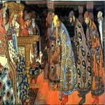 Ivan Yakovlevich Bilibin (1878�1942)  The Merchants Visit Tsar Saltan  Illustration for the book