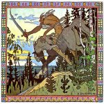 Ivan Yakovlevich Bilibin (1878—1942)  Koschei the Deathless  Illustration for the Russian fairy tale