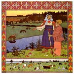 Ivan Yakovlevich Bilibin (1878—1942)  Illustration for the Russian fairy tale