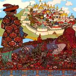 Ivan Yakovlevich Bilibin (1878—1942)  The Island of Buyan  Illustration for the book