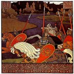 Ivan Yakovlevich Bilibin (1878—1942)  Illustration for the Russian Bylina