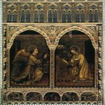 Jacopo Bellini (c. 1400 – c. 1470)  Annunciation  1444  Panel  Sant'Alessandro, Brescia, Italy