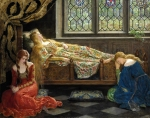 John Collier (1850-1934) Sleeping Beauty Oil On Canvas, 1921 111 x 142 cm (3' 7.7