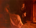"John Collier (1850-1934) The Confession Oil on canvas, 1902 142 x 112 cm (4\' 7.91"" x 3\' 8.09\"") Private collection"