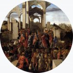 Sandro Botticelli (Alessandro di Mariano di Vanni Filipepi) (1445 – 1510)  Adoration of the Magi  Tempera on panel, 1470-1475  diameter 131,5 cm  National Gallery, London, United Kingdom