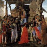 Sandro Botticelli (Alessandro di Mariano di Vanni Filipepi) (1445 � 1510)  Adoration of the Magi  Tempera on panel, c. 1475  111 x 134 cm  Galleria degli Uffizi, Florence, Italy