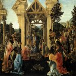 Sandro Botticelli (Alessandro di Mariano di Vanni Filipepi) (1445 – 1510)  Adoration of the Magi  Tempera on panel, 1481-1482  70 x 103 cm  National Gallery of Art, Washington, USA