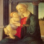 Sandro Botticelli (Alessandro di Mariano di Vanni Filipepi) (1445 – 1510)  Virgin and Child  Tempera and oil on panel,, about 1470  76.5 x 56.5 cm  Washington, National Gallery of Art