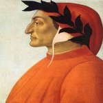 Sandro Botticelli (Alessandro di Mariano di Vanni Filipepi) (1445 – 1510)  Portrait of Dante  Tempera on canvas, about 1495  54.7 x 47.5 cm  Geneva, private collection