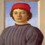 Sandro Botticelli (Alessandro di Mariano di Vanni Filipepi) (1445 – 1510)  Portrait of a Youth  Attributed to Sandro Botticelli or Filipino Lippi  Tempera and oil on panel, about 1480  52.1 x 36.5 cm  National Gallery of Art, Washington, USA