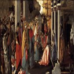 Sandro Botticelli (Alessandro di Mariano di Vanni Filipepi) (1445 � 1510)  Adoration of the Magi  Tempera on panel, 1465-1467  50 x 136 cm  National Gallery, London,  United Kingdom