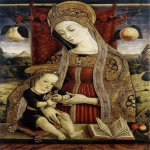 Vittore Crivelli (c. 1440 – c. 1500)  Madonna and Child  Tempera on panel, c. 1482  68 x 52 cm  Museum of Fine Arts, Budapest, Hungary