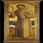 Vittore Crivelli (c. 1440 – c. 1500)  St. Francis  Tempera on panel, 1490  El Paso Museum of Art, Texas, United States