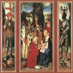 Hans Baldung (1484-1545)  Adoration of the Magi  Oil on wood, 1507  Staatliche Museen, Berlin