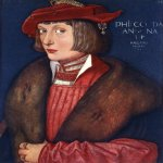 Hans Baldung (1484-1545)  Count Philip  Oil on wood, 1517  16 1/8 x 12 1/8 inches (41 x 31 cm)  Alte Pinakothek, Munich