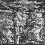 Hans Baldung (1484-1545)  Crucifixion  Woodcut, 1511  136 1/2 x 102 1/4 inches (347 x 260 cm)  Germanisches Nationalmuseum, Nuremberg
